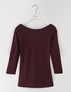 Supersoft Ballet Back Tee WO106 3/4 Sleeved Tops at Boden
