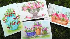 Easy Freehand Watercolor Pots to go with your Small Flower Stamps! And how to Seal Watercolor Postcards! SAVE! Use coupon code: WATERCOLOR to get 20% off all...