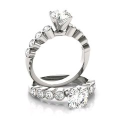 Solitaire Rings, Moissanite Rings, Diamond Engagement Rings, Design Your Own Ring, Ring Video, Forever One Moissanite, Shop Forever, Ring Designs, Diamond Jewelry