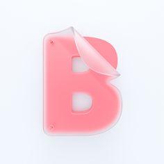Simple shapes, frosty transparency, one color. 3d Design, Icon Design, Logo Design, Type Design, Signage Design, Lettering Design, 3d Typography, Japanese Typography, Environmental Design