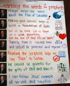 Cute idea for after Conference - doing a conference FHE poster to review talks.