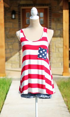 She's A Firecracker Tank – Red, White and Blue #SweetSouthernHoney