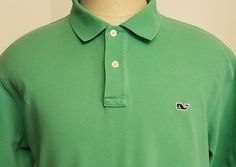 Vineyard Vines Mens Polo Shirt Green Whale SS Size L #VineyardVines #PoloRugby