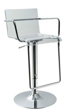 Chic Modern Design T2019 Clear Acrylic Contemporary Bar Stool