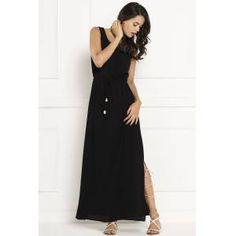 Kolsuz Yirtmaçli Uzun Trend Tasarım Elbise