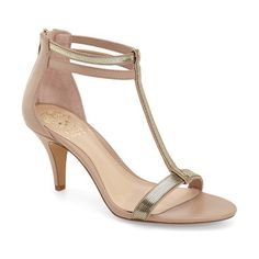 makoto t-strap sandal by Vince Camuto. A sleek, minimalist design and a walkable heel make this chic T-strap sandal easy to pair with ev...