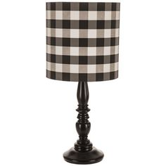 Revamp your favorite space with an eye-catching lamp like Black & White Gingham Lamp! Made with a black finial base, this charming lamp offers a black and white cylinder gingham shade. Display it on a side table or counter for a cutesy, stylish look! Farmhouse Lighting, Farmhouse Decor, Plaid Bedroom, Mackenzie Childs Inspired, Plaid Decor, Metal Pipe, Black Lamps, Hobby Lobby, Rustic Decor