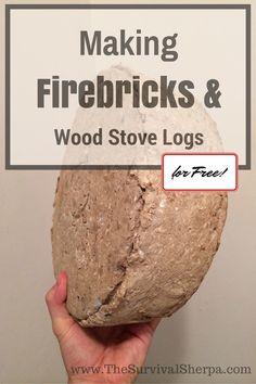 to Make Firebricks (fire logs) and Wood Stove Logs for Free! How to Make Firebricks and Wood Stove Logs for Free! Homestead Survival, Camping Survival, Survival Prepping, Emergency Preparedness, Survival Skills, Survival Stuff, Survival Gear, Survival Hacks, Wilderness Survival