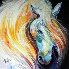 Abstract Art Gallery: LIPIZZANER ORIGINAL HORSE ART OIL PAINTING ...