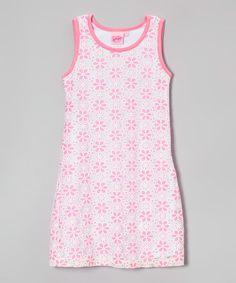 Pink Daisy Dress - Girls #zulily #zulilyfinds