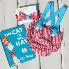 Cat in the Hat Theme Diaper Cover Diaper by CrestlineCreatives, $29.99