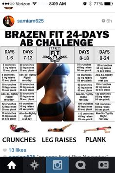 Ab challenge. Gotta get the baby body back in shape soon.