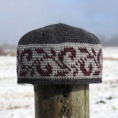 Ravelry: DeborahMcI's Same Song, Second Verse tapestry crochet snowflake hat pattern