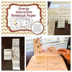 Science Interactive Notebook Templates for Energy - Potential and Kinetic Energy, Energy Transformations, Energy Types, Advantages and Disadvantages of Different Forms of Energy, Conduction, Convection, and Radiation.