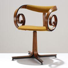 Art Nouveau Desk Chair. It doesn't look comfortable but it's beautiful.