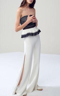 Alexis Kailey Peplum Top $415, White Brenda Wide Leg Pants $565