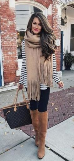 The Most Popular Genious Street Style Ideas To Try Right Now I love everything about this summer outfit. Lovely Summer Fresh Looking Outfit. The Best of casual outfits in Cute Fall Outfits, Fall Winter Outfits, Autumn Winter Fashion, Casual Outfits, Casual Winter, Winter Dresses, Scarf Outfits, Dress Winter, Winter Style