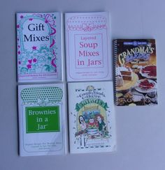 Book Lot Food Gifts - Mixes, Soups Mixes In Jars, Brownies In A Jar, Gooseberry Patch Salads, Grandmas Baking $6.99