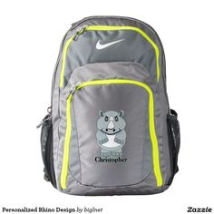 Personalized #Rhino Design #Nike #Backpack