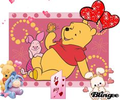 Pooh and piglet (b my valentine) Picture #84227633   Blingee.com