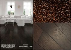 Dark, rich flooring with an intense grain running through every plank. Black Coffee from Heritage.