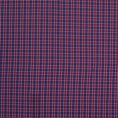 Steven Alan Red and Blue Plaid Cotton Shirting
