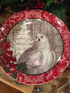 Our Winter Owl Collection includes two different size plates, matches, napkins, dish towels and coasters!