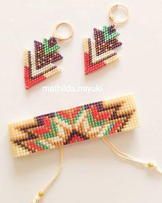 Beaded Earrings, Earrings Handmade, Beaded Jewelry, Handmade Jewelry, Dangle Earrings, Diamond Earrings, Native Beading Patterns, Native Beadwork, Loom Bracelet Patterns