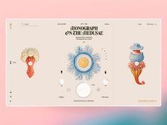 Fauna Abysal by Angello Torres on Dribbble Graphic Design Layouts, Graphic Design Posters, Typography Design, Layout Design, Site Vitrine, Diy Calendar, Portfolio Web Design, Poster Layout, Site Internet