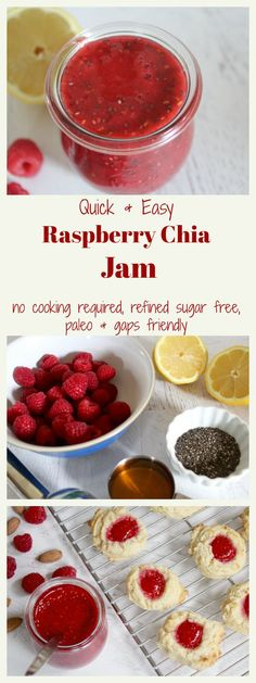Bright red raspberries just beg to be preserved and turned into jam. But why mess with the natural sweetness, bright color, and delicious flavor of raw raspberries? That's where raw chia jam comes into play… With just 4 ingredients and 5 minutes of hands-on time, you'll have a sweet little jar of jam to top...