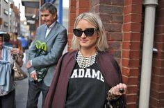 Street Style at London Fashion Week    #Adorned #Jewelry #tshirt