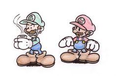 Luigi and his coffee