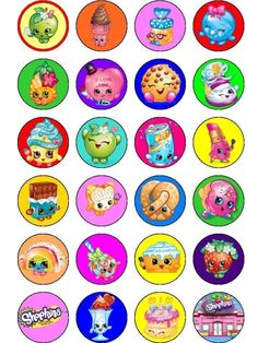 Shopkins Fairy Cup Cake Decoration Toppers Rice Paper x 24 D216