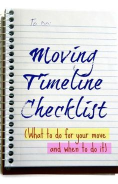 #wattpad #general-fiction To organize your move properly, you will definitely need the prosperity of a moving checklist to liberate you on the right track and save you loads of valuable time in the end. As I Love Moving Reviews Company said that moving timeline checklist you're advised to move in and out is nothing more tha...