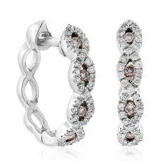 Pink & White Diamond Hoop Earrings 14K - 11206331.jpg