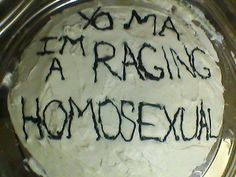 Be as eloquent as possible: 17 Of The Sweetest Ways To Come Out Of The Closet Funny Birthday Cakes, Funny Cake, Ugly Cakes, Bolo Cake, Out Of The Closet, Just Cakes, Pretty Cakes, Mood Pics, Coming Out
