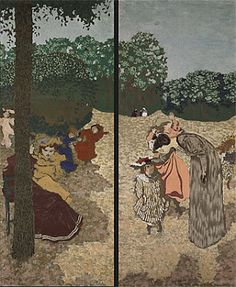 Carole's Chatter: Édouard Vuillard Maurice Denis, Edouard Vuillard, Luxembourg Paris, Felix Vallotton, Social Art, Moving To Paris, Public Garden, Canvas Prints, Art Prints