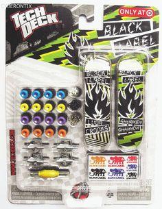 Tech Deck BLACK LABEL Mini Sk8 Shop Target Exclusive 2011 Boards Trucks NEW MIP #SpinMaster