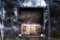 Special mood forest hous with an environment in fog. #archviz #architecture