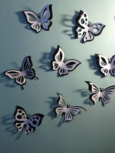 These paper double butterfly wall stickers are made of 160g/m2 craft paper, perfect for baby room/ nursery decoration and wedding decoration, wall decoration, photo prop or just have a litter fun for your home. They stick to any smooth surface: wall, glass, refrigerator, and slightly