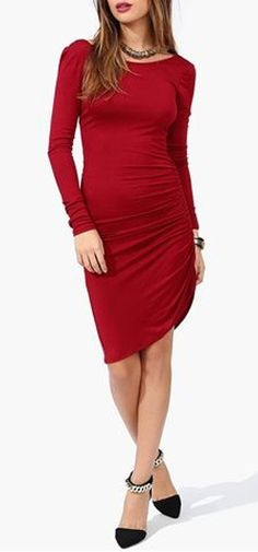 Lust Dress in Burgundy...Like the dress, the shoes, not so much.