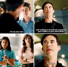 """""""I'm my own man"""" - Wells, Barry, Cisco and Caitlin #TheFlash"""