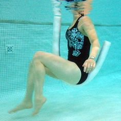 pool workout: noodle bicycle
