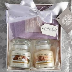 Yankee Candle Gift Set Owl Votive Holder with 4 HONEY & BISCUITS ...