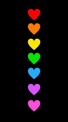 Helle Farben auf schwarzem Hintergrund You can start by using the software to add some g Rainbow Wallpaper, Heart Wallpaper, Love Wallpaper, Colorful Wallpaper, Rainbow Art, Rainbow Colors, Bright Colors, Colours, Black Backgrounds