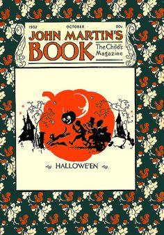 Wacky Wonderful Trick or Treaters--John Martin's Magazine--Vintage Halloween Illustration