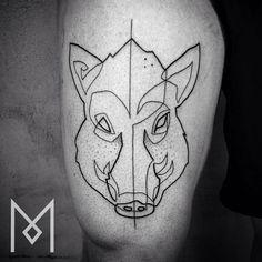 wild boar tattoo design