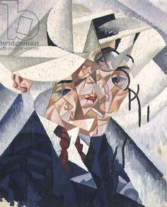 Self Portrait, 1913 (oil on canvas) Gino Severini,  (1883-1966) / Private Collection / Bridgeman Images. I really like how you can only just see what the peice is off