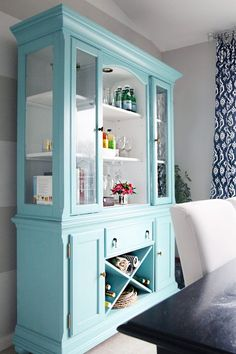This hutch! Sherwin-Williams reflecting pool. IHeart Organizing: IHeart My Home - Home Tour!
