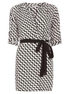 Petite zig zag shirt dress - Dorothy Perkins